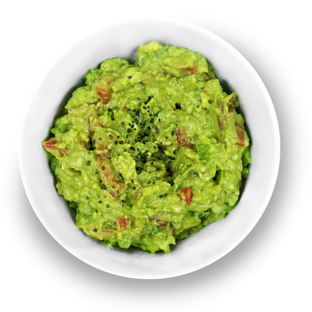 Guacamole in a bowl.