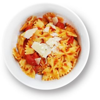 Bowl of marinara pasta